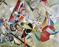 Launelinie Keilrahmen-Bild Leinwand abstrakt Komposition Wassily Kandinsky