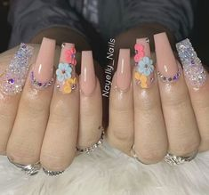 80 ideas to create the best Halloween nail decoration - My Nails Aycrlic Nails, Swag Nails, Cute Acrylic Nail Designs, Nail Art Designs, Nails After Acrylics, Clear Acrylic Nails, Nails Design With Rhinestones, Thanksgiving Nails, Fire Nails