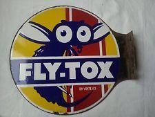 Belle plaque émaillée double face Fly-Tox L