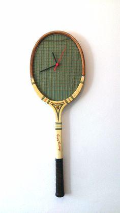 Florinda House Design - £45 Vintage Tennis Racket Clock