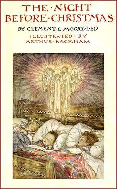 Arthur Rackham - The Night Before Christmas (1931) (cover)