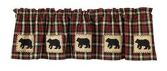"Concord Bear Lined Applique Valance - All our textiles are made of 100% cotton. We recommend machine wash cold, tumble dry low. Pattern: Bear Dimensions: 60"" x"