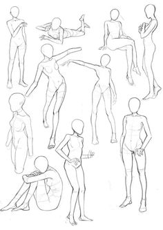 skizzen zeichnen – Keep up with the times. Female Pose Reference, Body Reference Drawing, Drawing Body Poses, Anime Poses Reference, Posture Drawing, Drawing Female Body, Drawing Base, Figure Drawing, Drawing Drawing