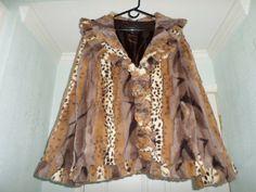 Vintage Jacket Animal Print Faux Fur M Avant by MonaLisaTreasures
