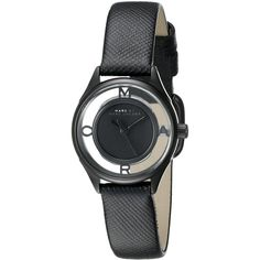Marc by Marc Jacobs Women's MBM1384 Tether Stainless Steel Watch with... ($158) ❤ liked on Polyvore featuring jewelry, watches, marc by marc jacobs jewelry, analog wrist watch, water resistant watches, logo watches and black stainless steel watches