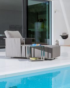 Taking outdoor living comfort to a higher level, Suite by Fisher Mobel is exclusively available from Leisure Plan. A high-spec modular seating collection with highest quality electro polished stainless steel frames and luxurious backs and deep seats, this