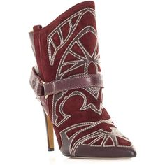 Isabel Marant Blackson embroidered boots ($662) ❤ liked on Polyvore