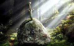 Contrary to common belief, this sword was not Excalibur. King Arthur recieved Excalibur from The Lady of the Lake later on after the sword in the stone had been broken in battle. Rei Arthur, King Arthur, Die Legende Von Camelot, Die Nebel Von Avalon, Fortes Fortuna Adiuvat, Excalibur, Disney Poster, Sword In The Stone, Templer