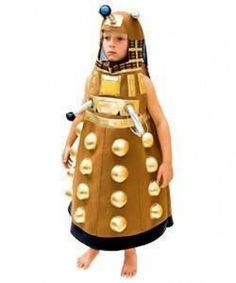 AUTHENTIC BBC DR DOCTOR WHO GOLD DALEK CYBORG MUTANT ALIEN COSTUME BOYS 5 6 7