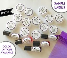 """1"""" SAMPLE LABELS, Younique Inspired Sample Labels, Lacon Labels, Cream Shadow Labels, Lip Stain Labels, Professional Printing, Cosmetics"""