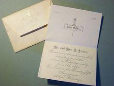 1881 Antique Silver Wedding Invitation by SweetCarolinaWhimsys, $5.00