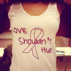 domestic violence awareness. love shouldn't hurt! #axo