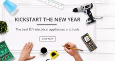 KICKSTART THE NEW YEAR, The best DIY electrical appliances and tools, Up to 50% off.