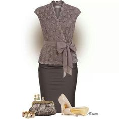 Lace classy outfit