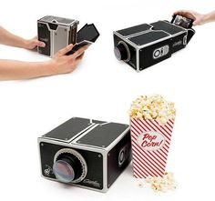 #DIY #Cardboard #Smartphone #Projector #For #iPhone #Android #Phones | Go Up Blue