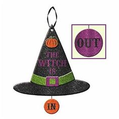 The Witch Is In Sign - 335346 | trendyhalloween.com #halloweendecorations