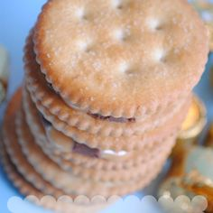 Easy & yummy. Great snack or as a cookie tray garnish. Rollo's melted between Ritz crackers..need to try these with different candies