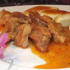 Ketchup, Pork, Meat, Chicken, Dinner, Kale Stir Fry, Dining, Food Dinners, Pork Chops