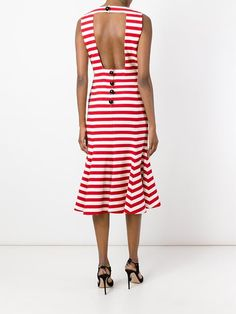 Dolce & Gabbana peplum hem striped dress