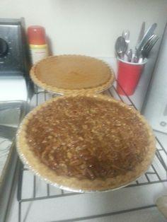 Pumpkin and Pecan Pies