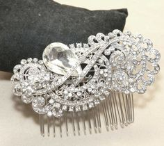 Bridal Hair Comb Wedding Hair Comb Romantic Vintage by BlingGarden