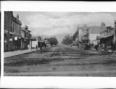 View of Santa Monica's Third Street from Broadway to Nevada, ca.1891 :: California Historical Society Collection, 1860-1960
