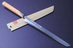 "Blue Steel Damascus Sakimaru Takobiki Sashimi Knife 10.5"" (270mm)"