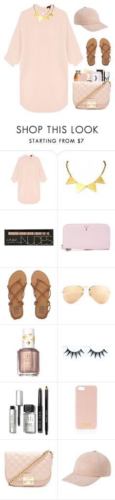 """""""I wanna be known by you."""" by ducky-momo-fangirl ❤ liked on Polyvore featuring Alexander Wang, Zara Taylor, Serapian, Billabong, Ray-Ban, Essie, Bobbi Brown Cosmetics, Henri Bendel and Forever 21"""