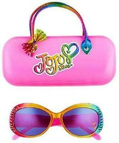 JoJo Siwa Kids Sunglasses with Matching Glasses Case and UV Protection Girl With Sunglasses, Kids Sunglasses, Sunglasses Case, Girls 4, These Girls, Jojo Siwa Outfits, Jojo Jojo, Jojo Siwa Bows, Jojo Siwa Birthday
