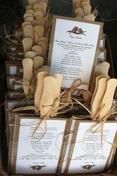 Rustic Love Birds Burlap Fan Wedding Program by designunfurls, $3.00    LOVE!!