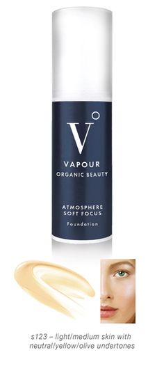 Vapour Organic Beauty Atmosphere Soft Focus Foundation, Award Winning, Anti-Aging, Organic Foundation, Primer, Concealer