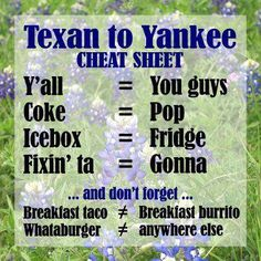 Grew up in Michigan, now have lived in Texas for 21 years… uhhh.. I have used all of these! :)
