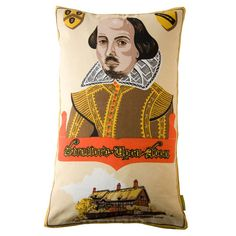 Shakespeare Vintage Upcycled Pillow Tea Towel by HuntedandStuffed, £60.00