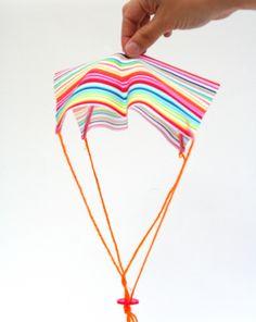Kindergarten Science Activities: Make a Parachute Toy