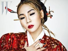 "2NE1's CL is a modern queen in wrapped in traditional Korean hanbok for the forthcoming April issue of fashion magazine, W Korea, aptly titled ""The Queen"". Check out her full editorial:"