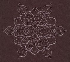 """""""Baroque Noel - Fancy Flake"""" Craft a glamorous winter with this beautiful, intricate snowflake design! - UT7158, UT7160 (Machine Embroidery) 00572034-112013-0830-6"""