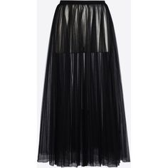 Valentino Long Skirt In Plissé Tulle