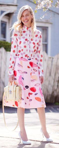 Total Lip Printed Spring Style #Fashionistas