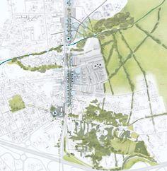 Plano Diretor para a região Sul de Bordeaux / OMA