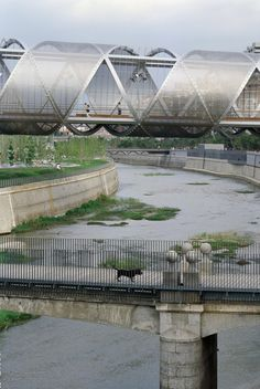Arganzuela Bridge in Madrid, Spain by Dominique Perrault Architecture