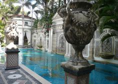 The pool inlaid with gold at Gianni Versace's Miami Mansion