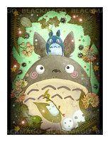 Portrait of totoro by =Blackmago on deviantART  awwww