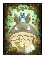 Portrait of totoro by =Blackmago on deviantART  awwww