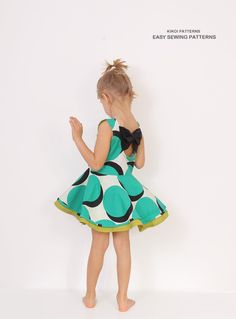 Full circle DRESS pattern and tutorial sizes 3 door KikoiPatterns