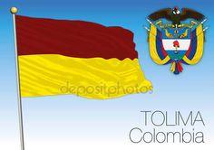 Bandiera regionale di Tolima, Colombia — Vettoriali  Stock © frizio #140261600