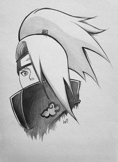 Naruto Sketch Drawing, Anime Boy Sketch, Naruto Drawings, Kpop Drawings, Anime Drawings Sketches, Naruto Art, Cartoon Drawings, Anime Eyes Drawing, Kakashi Drawing