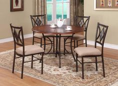 Powell Presley Dining Set, 5-Piece