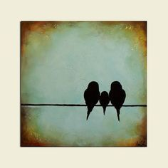 silhouette art birds on a wire - Google Search