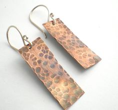Petite Rustic Copper  Earrings by BalsamrootRanch on Etsy, $29.00