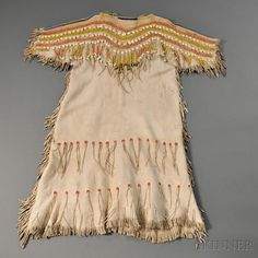 Cheyenne Beaded Hide Girl's Dress, c. last quarter 19th century